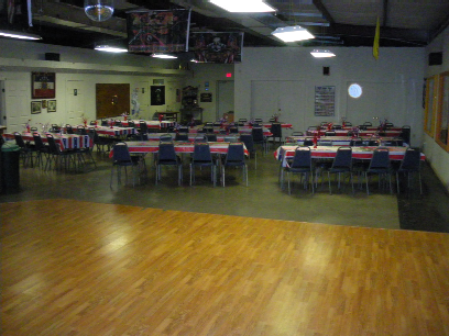 Red-White & Blue Inside the VFW